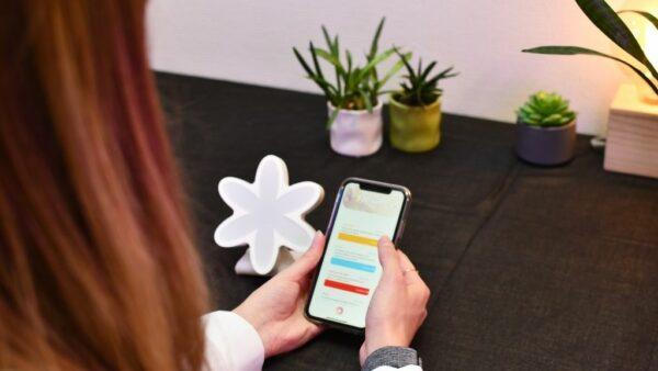 Utilisation de l'application FlowerPower par Ullo pour modifier les exercices de respiration